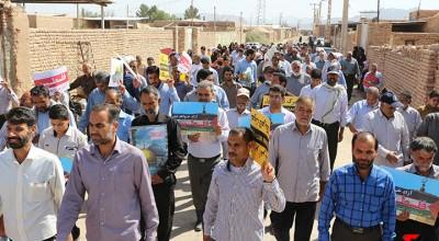 حضور مردم روزه دار سیریز در راهپیمایی روز قدس