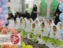برگزاری جشن عبادت و بندگی دانش آموزان پایه سوم مدارس دخترانه سیریز در جوار آستان مقدس امامزاده جعفر(ع)