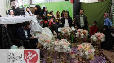 خطبه عقد زوج جوان درآستان مقدس امامزاده جعفر (ع) سیریز جاری شد