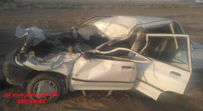 دو مصدوم در حادثه رانندگی در محور زرند _سیریز