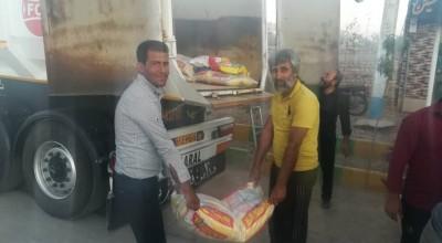 نذورات و هدایای مردم ولایی سیریز به موکب ۱۴۶ ثاراللهیان کرمان به کشور عراق اعزام شد