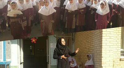 حضور حامیان محیط زیست شهرستان زرند در جمع دانش آموزان سیریزی